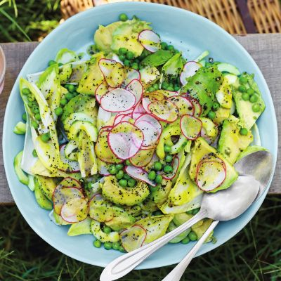 Chicory salad with poppy seed dressing
