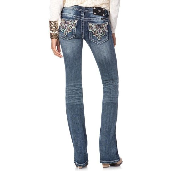 Abstract Parisian Crosshatch Boot Cut Jeans Miss Me Jeans ($100) ❤ liked on Polyvore featuring jeans, boot-cut jeans, bootcut jeans, miss me jeans, crosshatch jeans and miss me