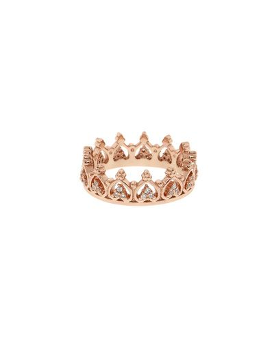 Rose Gold Pave Elizabeth Crown Ring