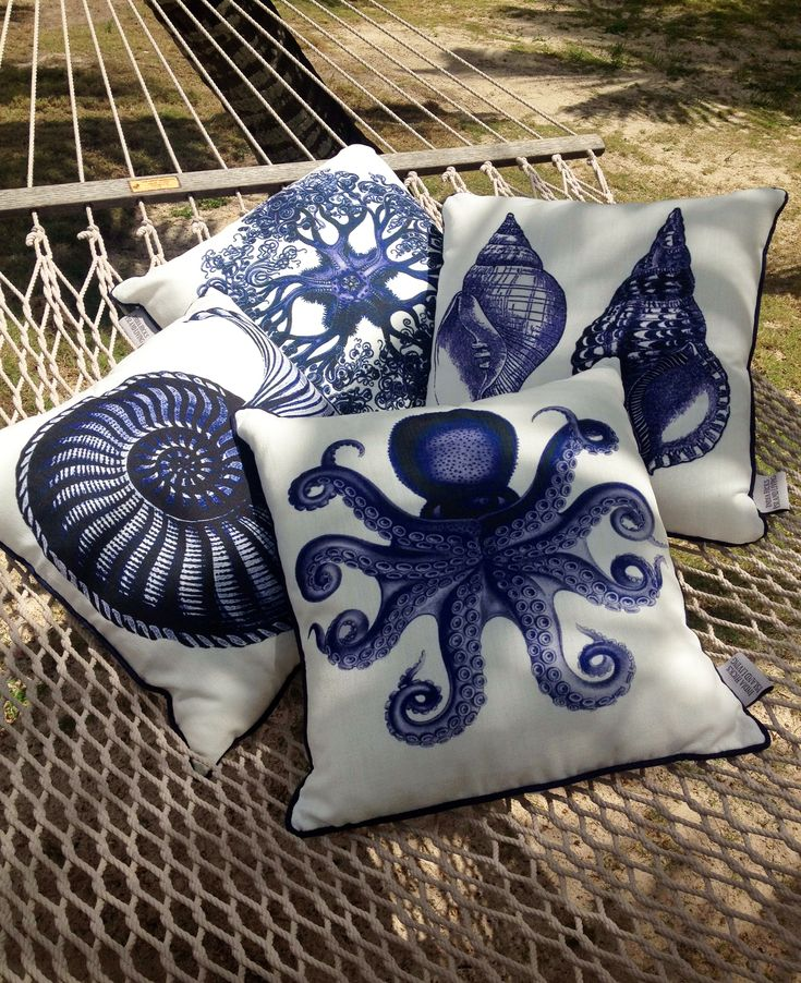 Marine Life Pillows style to perfection by @Blue Hicks on her hammock.