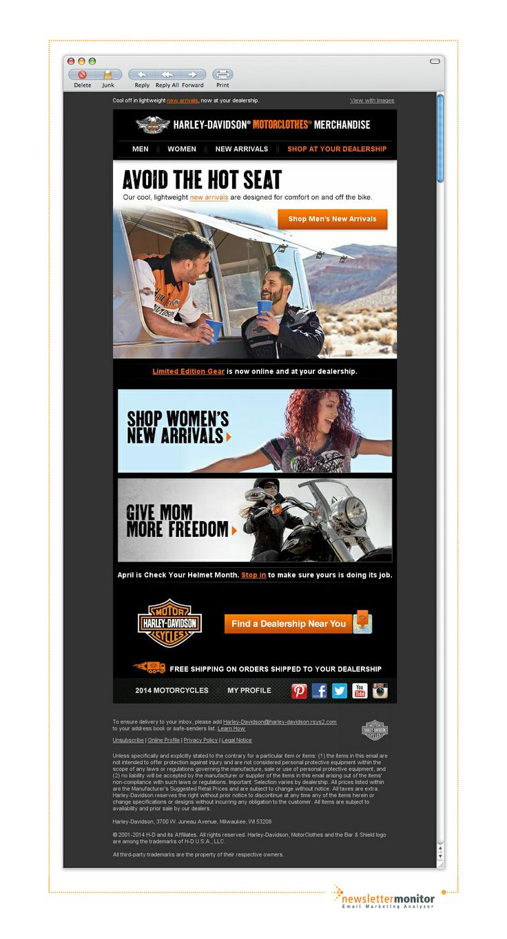 From: Harley-Davidson | Subject: Beating the heat just got a lot cooler