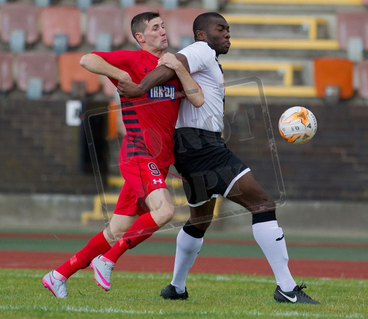 John Carter attempts to get past Edinburgh City's Joseph Mbu