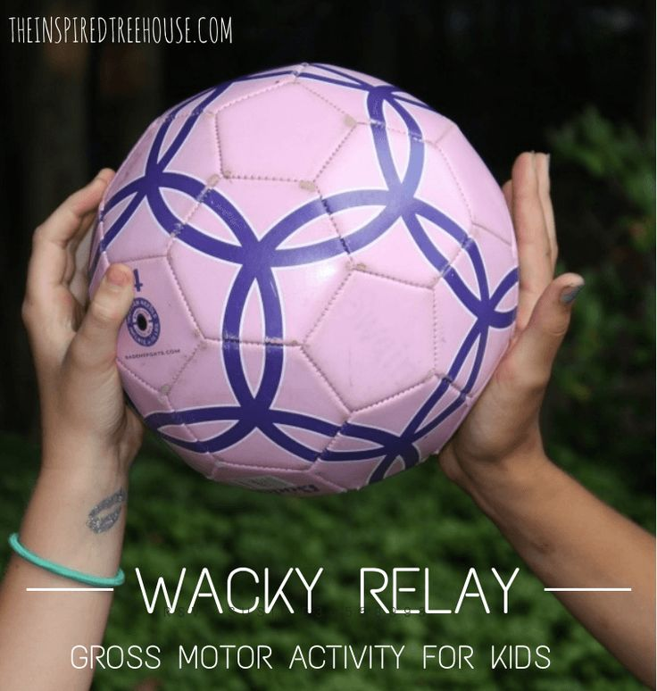 Wacky relay - spatial activity for more than one kid