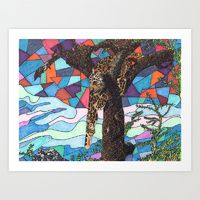 Art Print featuring Hangin' Around by Juliana Kroscen