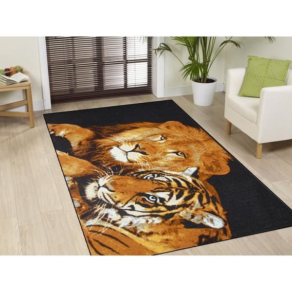 Lion And Tiger Rug Size: 150 x 220cm