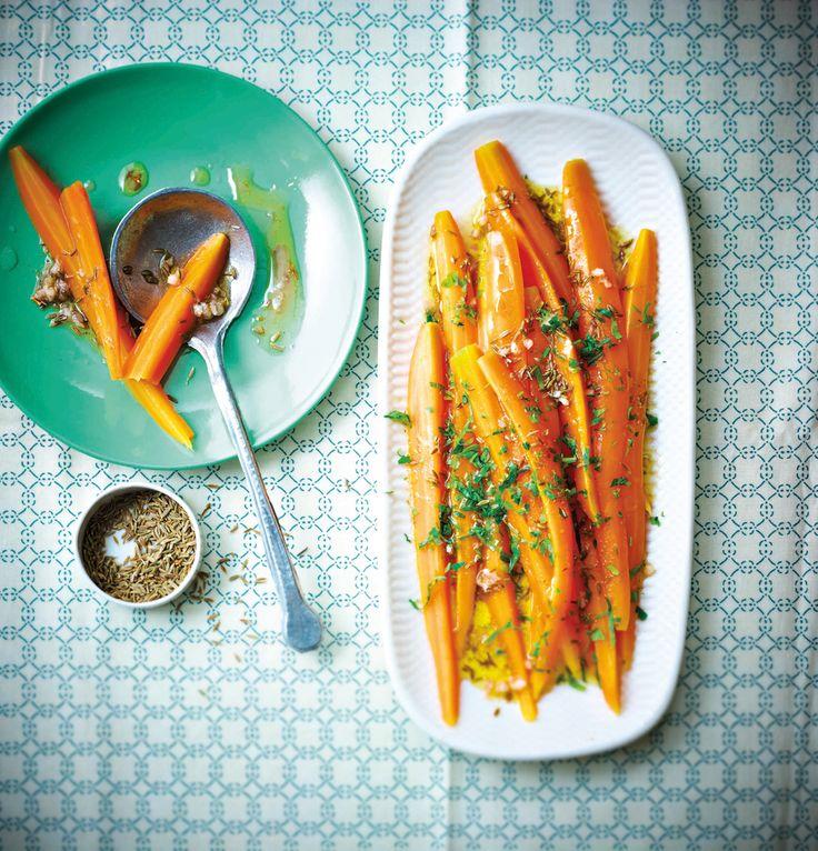 Recettes : escale au Maroc Recettes marocaines : carottes cumin-orange, tajine poulet citron, maftoul légumes verts, véritable thé à la menthe | Glamour