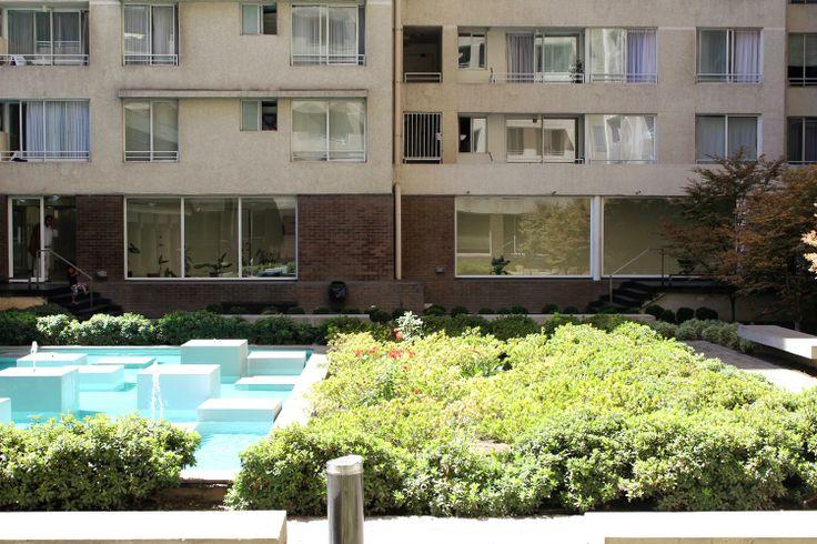 el patio del departamento en Huerfanos en santiago de chile que arendamos