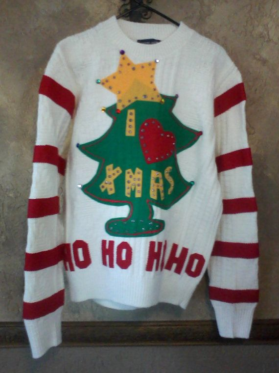 Grinch Ugly Christmas Sweater Large to X Large Ready to Ship One of a Kind  Ugly