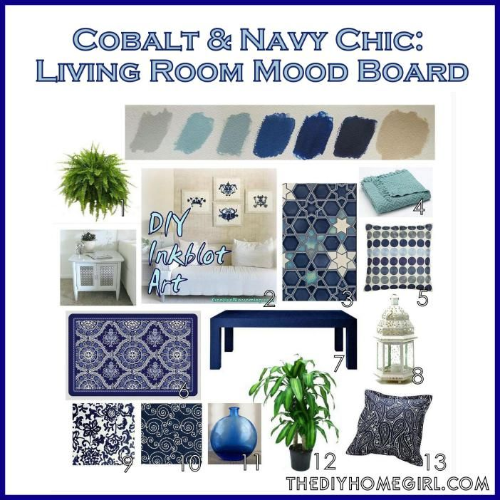 Best Cobalt And Navy Chic Living Room Mood Board Colors Palette 400 x 300