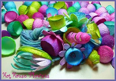 Curly Bird Express: Hot House Flowers (silk cocoon flowers)