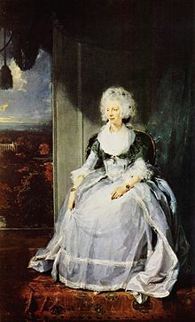 Sophia Charlotte of Mecklenburg-Strelitz - Wife of King George III - Born 1744, Queen 1761 to 1818 (Died) - Portrait by Sir Thomas Lawrence, 1789