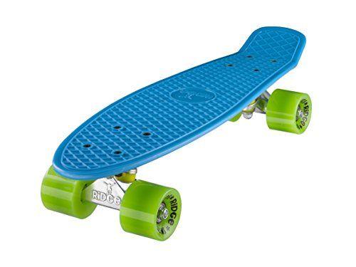 Ridge Skateboard Mini Cruiser, blau-gr�n, 22 Zoll, R22