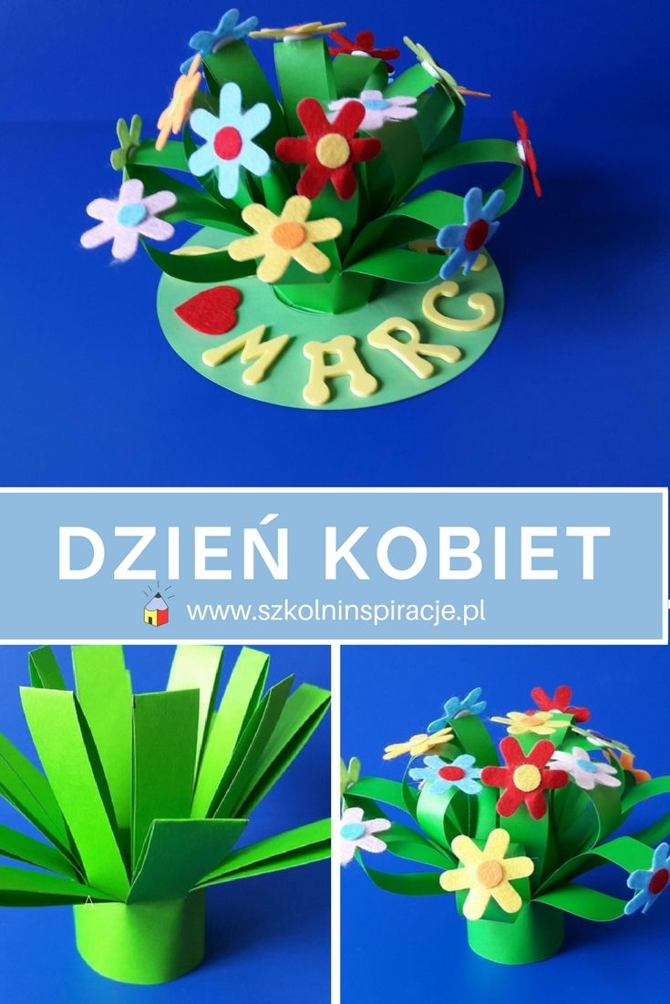 Kwiaty Praca Plastyczna Z Okazji Dnia Kobiet Hand Crafts For Kids Halloween Crafts For Toddlers Easter Crafts For Kids