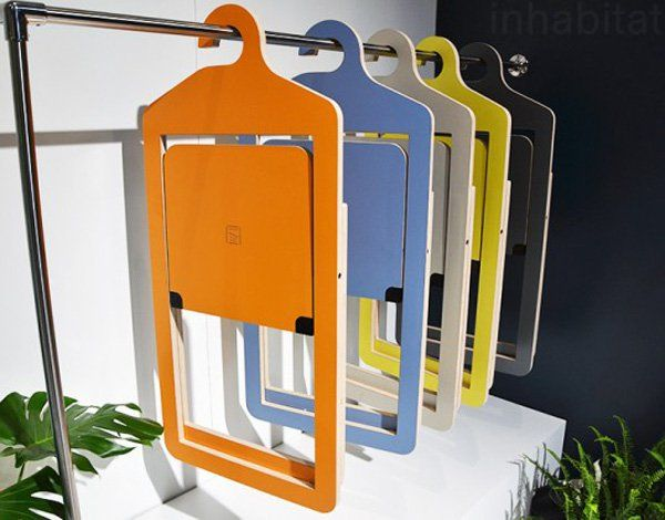 These are folding chairs. When opened, these could probably take quite a bigger space in your area. However, when these are folded, you can easily store them somewhere. Here, they are hanged similarly to that of a clothe's rack. And they even have those hooks so they can hang easily.