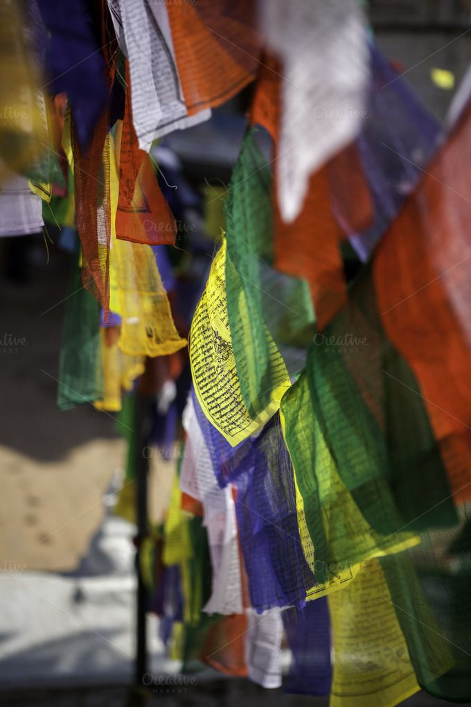 Buddist Flags Nepal by More Than Cake on Creative Market