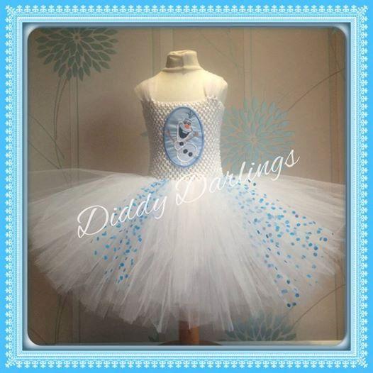 Olaf Tutu Dress. Inspired Handmade Tutu Dress. door DiddyDarlings