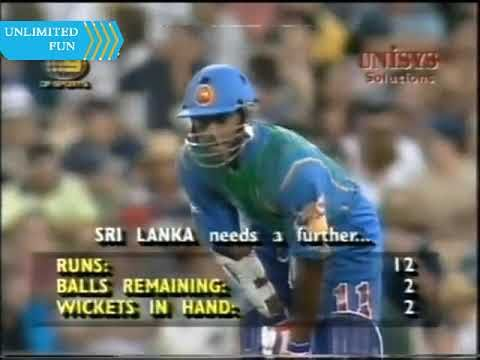 Shane warne Amazing Last Over ball by ball bowling vs SL in 1st Final of...