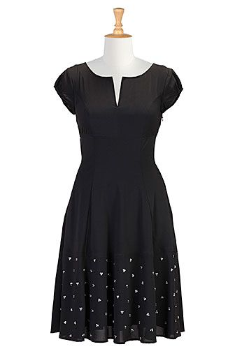 Sequined stretch crepe dress from eShakti
