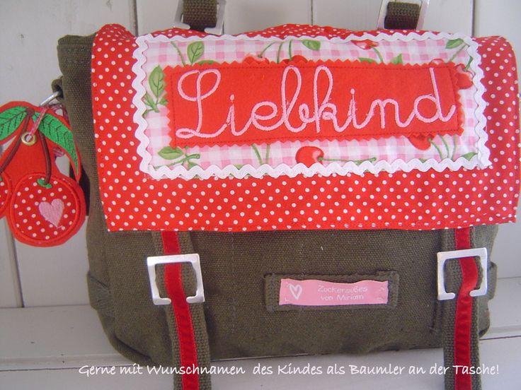 ♡ Kindergartentasche Liebkind♡  von Eigen-Artig auf DaWanda.com