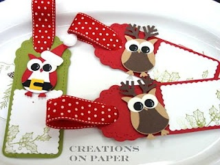owl punch Santa & Reindeer. This is why I need that stampin' up owl punch!!!