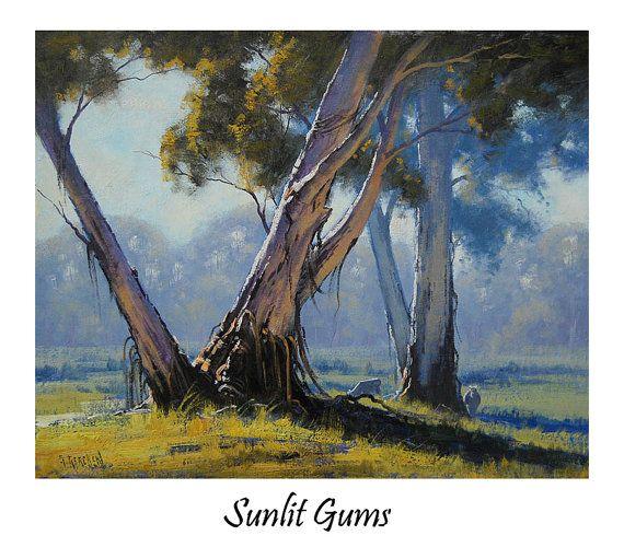 AUSTRALIAN PAINTING Australian Landscape Gum by GerckenGallery