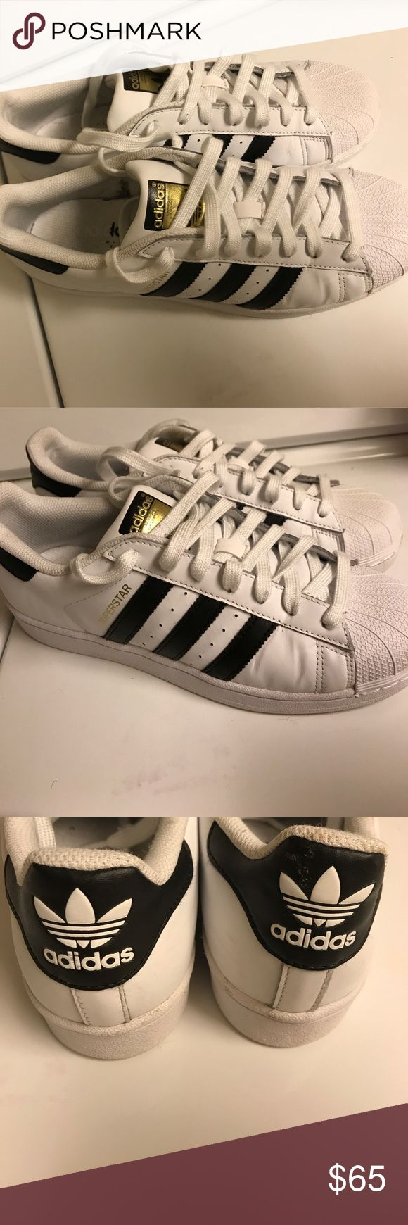 Men's Adidas Superstar Tennis Shoes-Sz 8 Like new . Only worn a few times . Adidas Shoes Sneakers