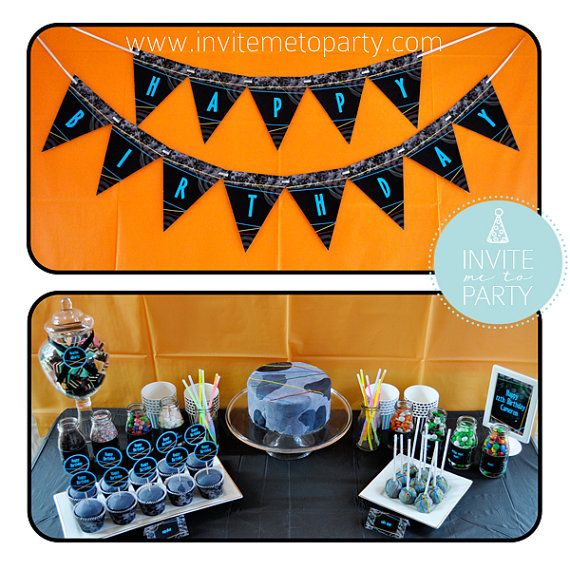 Laser Tag Party Printable Decorations by InviteMe2Party on Etsy, $29.00