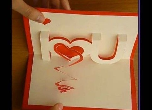 Homemade Valentine gifts for him: How to make a pop up card for your  boyfriend