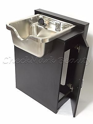 Stainless Steel Shampoo Bowl Sink Cabinet Salon Equipment TLC-1167 SS-FC