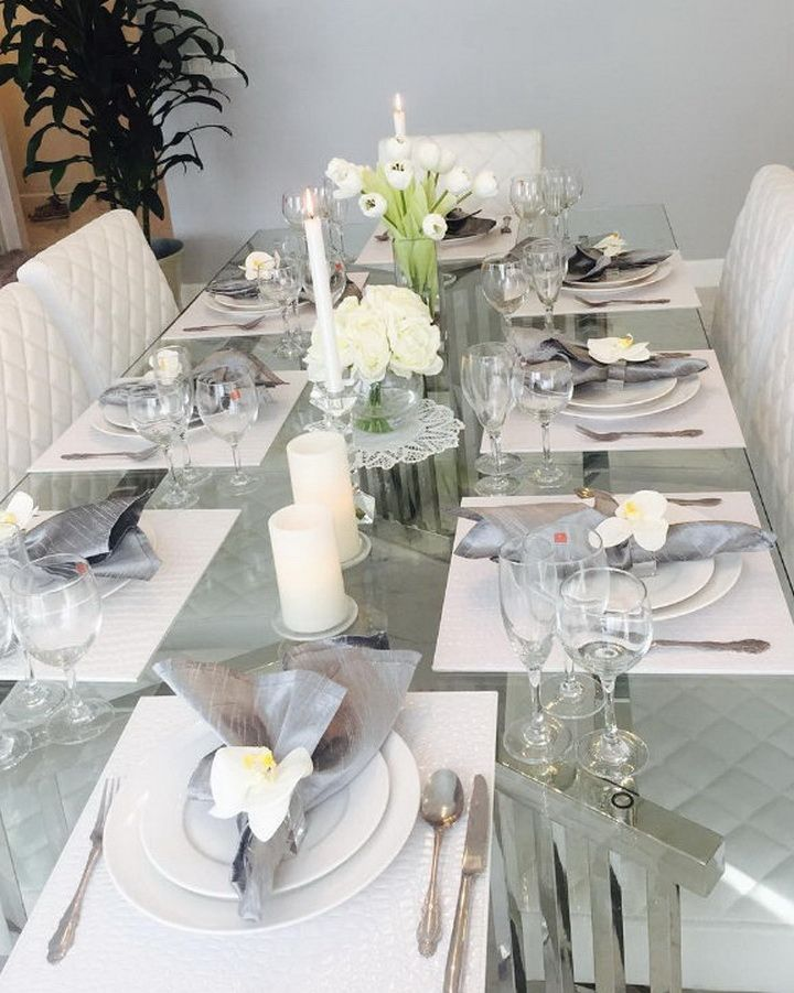 Table Decorating Ideas For Parties party table from glamping glamorous camping party at karas party ideas see the 70 Ultra Modern Christmas Tablescape Stunners Christmas Table Decorationsmodern