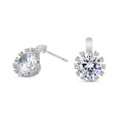 Jon Richard Detailed round crystal clasp earring- | Debenhams