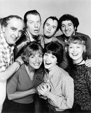 Laverne & Shirley (1976-1983) starring Phil Foster, Michael McKean, David L. Lander, Eddie Mekka, Penny Marshall, Cindy Williams, Betty Garrett