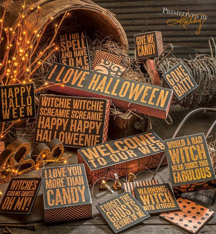 a basket full of decorative halloween box signs halloween decor