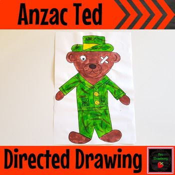 Anzac Ted Directed Drawing - Your students will love seeing their Anzac Ted transform whilst following these simple step by step instructions. You will be amazed at the results that even little hands can produce and the uniqueness of each child's drawings. This activity is the perfect accompaniment to the book Anzac Ted by Belinda Landsberry. This activity is a must for every Anzac Day unit. Great for your Kindergarten, 1st, 2nd, 3rd, and 4th grade classroom or homeschool. {Year 1, 2, 3, 4}