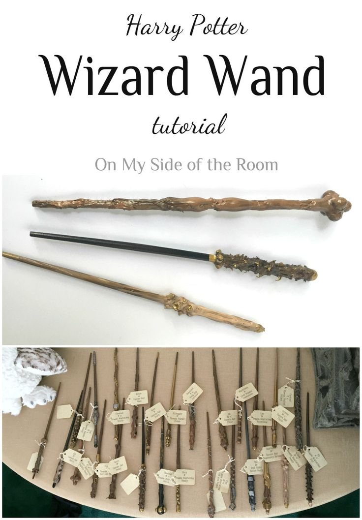How to make your own Harry Potter wizard wand without spending a fortune! Simple DIY tutorial using things you probably already have. Pin for later!