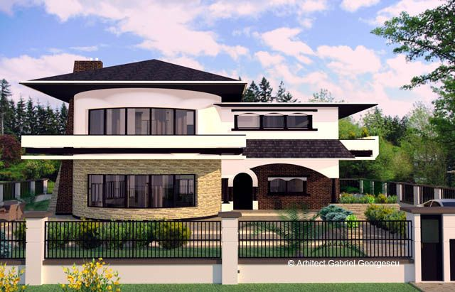 Proiecte de case casa cu etaj 29 arhitect gabriel for Case moderne e strette