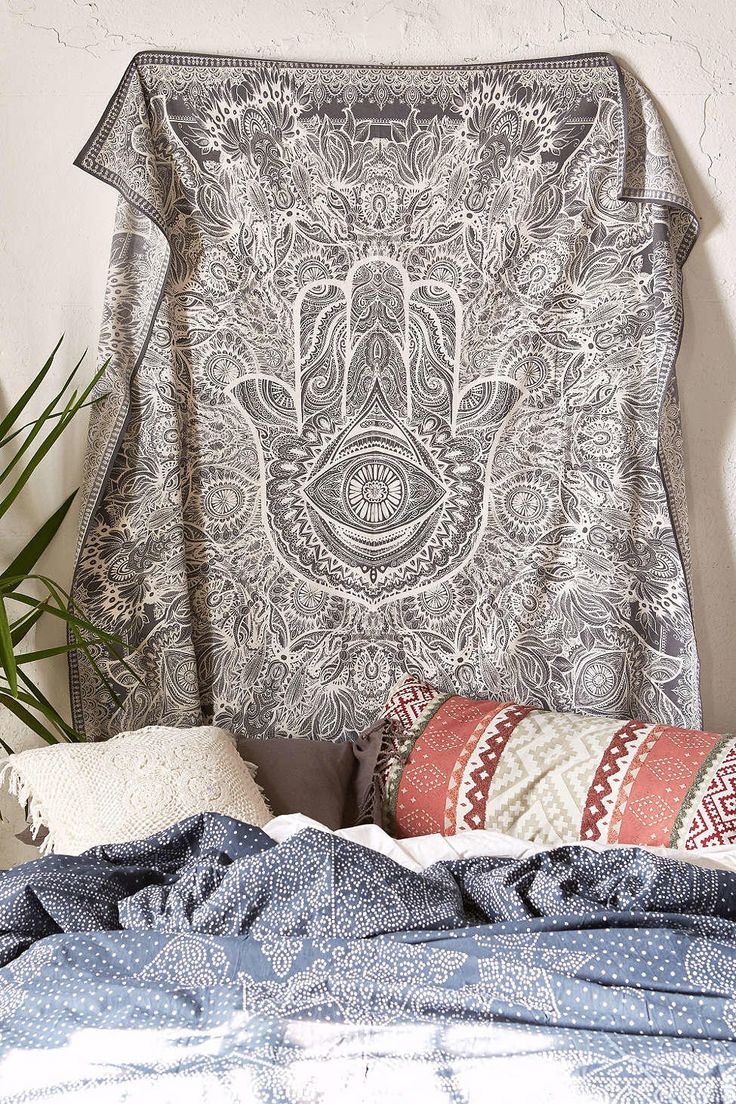 Urban outfitters bedroom tapestry - Magical Thinking Sketched Hamsa Tapestry Urban Outfitters