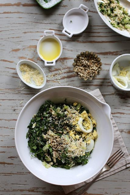 Tuna Kale and Egg Salad by joy the baker