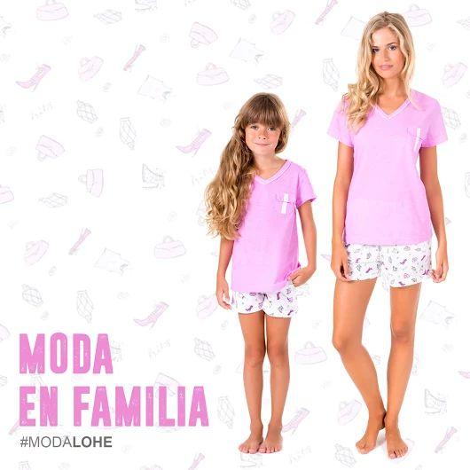 Pijama igual para mama y niña. Vestir igual que mama. Moda en familia. Pijama para madre e hija igual. #pijama #vestirigual #ropaigual