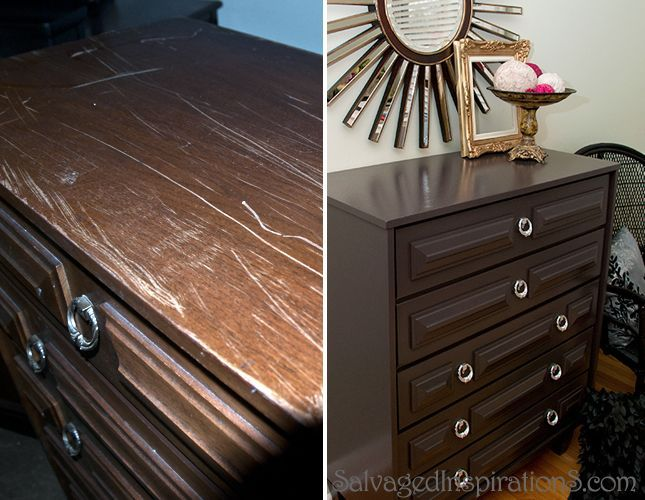 """An Easy """"how-to"""" Fill In Furniture Scratches Tutorial"""