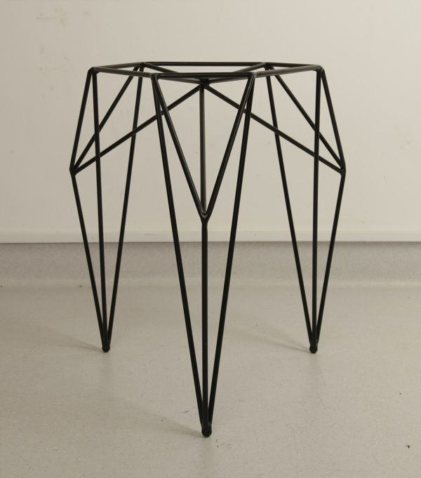 steel furniture designs. a stool made of steel rods and powder coated furniture designs