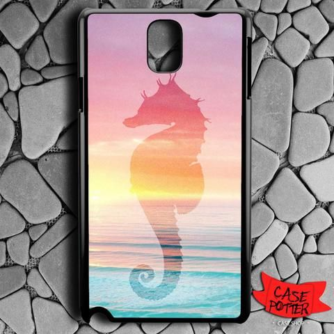 Sea Horse The Ocean Sillohuette Samsung Galaxy Note 3 Black Case