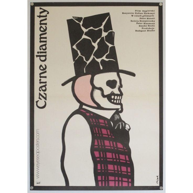 Czarne Diamenty original Polish film poster | ORIGINAL VINTAGE FILM POSTERS - EYE SEA POSTERS
