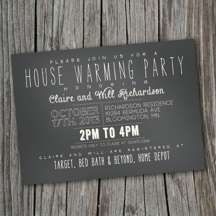 35 best Housewarming invitations images on Pinterest | Housewarming ...