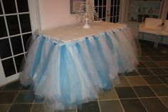 No Sew Tulle Table Skirt | THE MAMANISTA
