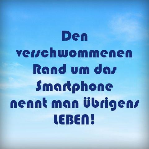 Kenn' ich nicht das Verschwommene rund um das Smartphone ;-) :-D