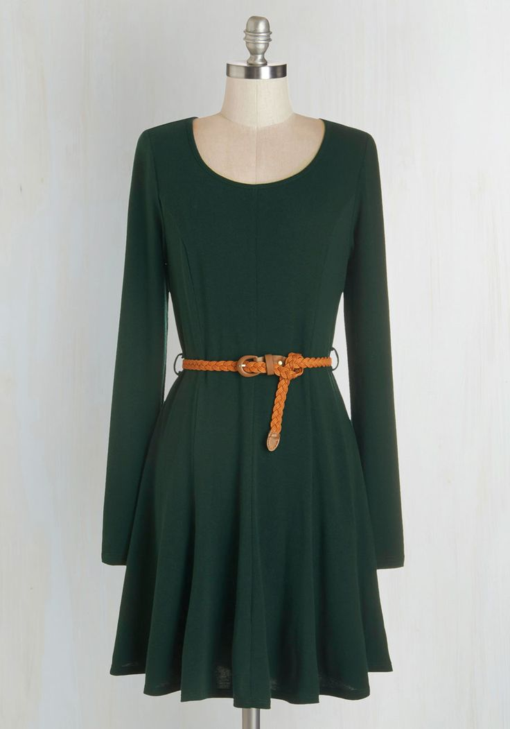 Any and Every Occasion Dress. All of those upcoming events on your calendar just got a lot more exciting, since youll be flaunting this pine-green dress to each one! #green #modcloth