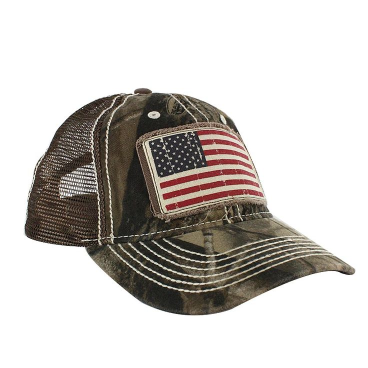 Cody James, American Flag Baseball Cap with Mesh back. Camo.