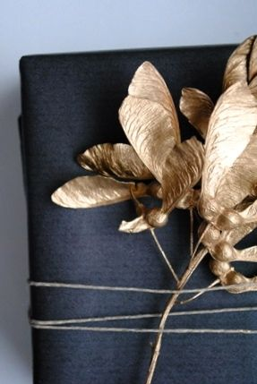 PATRICIA BLECK | Great modern take on #fallgiftwrap.