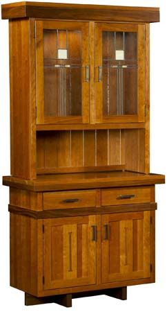Attractive Weaver Amish Furniture    Wright Revival Hutch